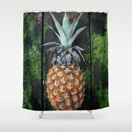 Weathered Pineapple Shower Curtain