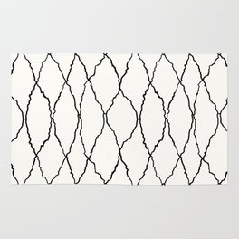 Moroccan Diamond Weave in Black and White Rug