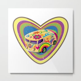 Love Van Metal Print