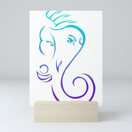 Serene Lord Ganesha Mini Art Print