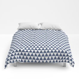 triangles - blue and white Comforters