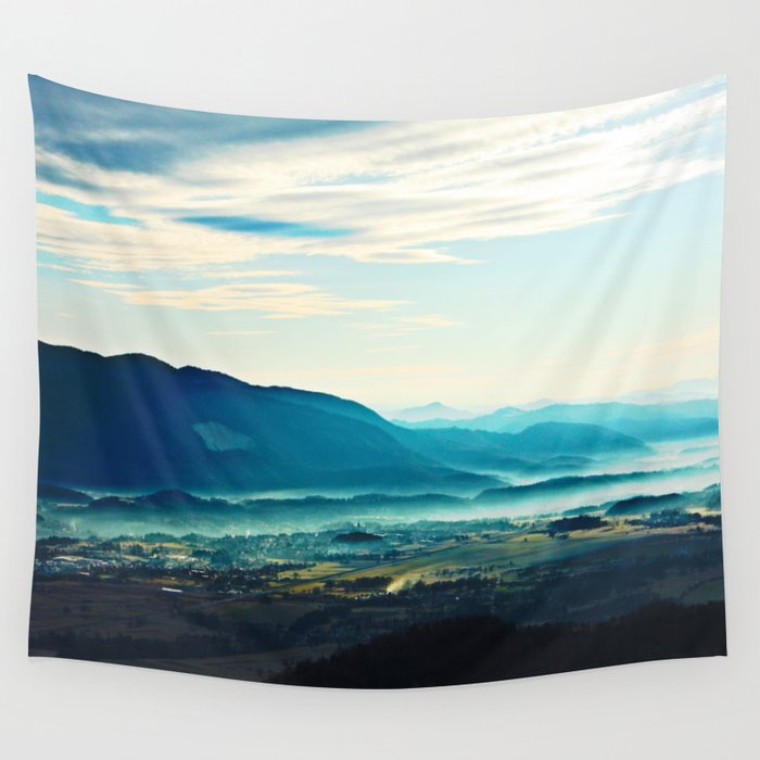 Blue Vista Wall Tapestry