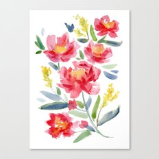 Floral Watercolor Canvas Print