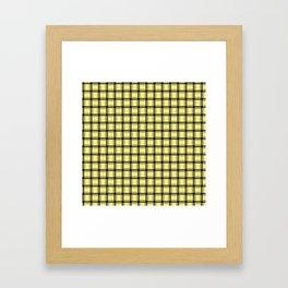 Small Khaki Yellow Weave Framed Art Print