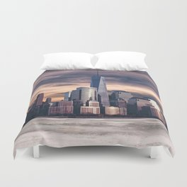 Dramatic City Skyline - NYC Duvet Cover