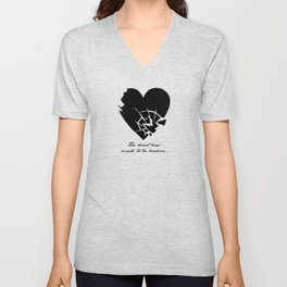Oscar Wilde - The heart was made to be broken Unisex V-Neck