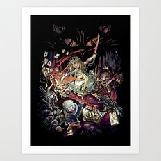 Zombies in Wonderland Art Print