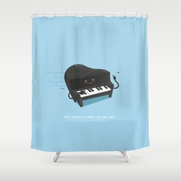 The happy piano Shower Curtain