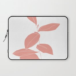 One line plant drawing - Berry Pink Laptop Sleeve