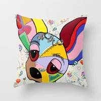chihuahua Throw Pillows featuring Chihuahua by EloiseArt
