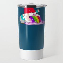 Rainbow Barfing Gnome Travel Mug