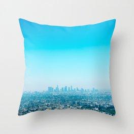 Blue LA Throw Pillow