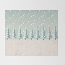 Festive Moments - Christmas woods Throw Blanket