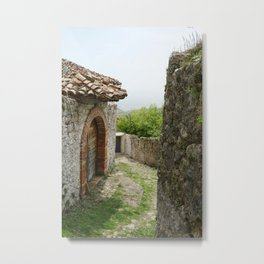 Ancient Stone Houses in Krujë, Albania Metal Print