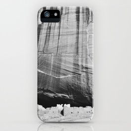 White House Ruins in Black & White iPhone Case