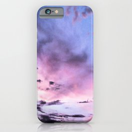 fly up to the blue pink sky iPhone Case