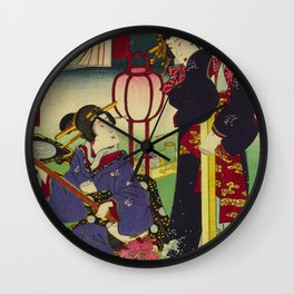 A day of twelve months in Yoshiwara Wall Clock