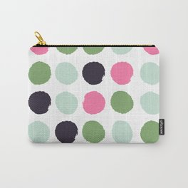 Painted dots minimal colorful pattern polka dots nursery baby decor Carry-All Pouch