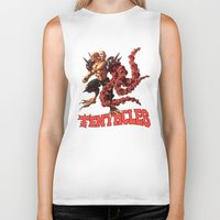 gnome Biker Tanks featuring Gnome by Traaw