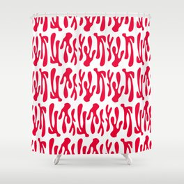 dance in red Shower Curtain