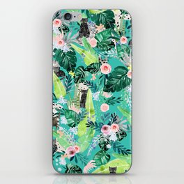 Jungle Black Cat iPhone Skin