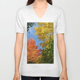 Autumn Treetops Unisex V-Neck