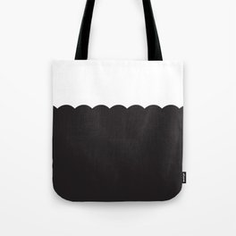 Scalloped - Black & White Tote Bag