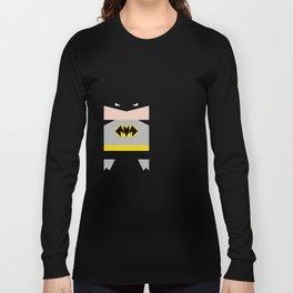 simpleheroes BAT-MAN fan art, parody Long Sleeve T-shirt