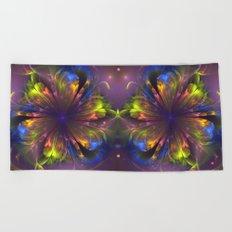 Dream flower, fantasy fractal abstract Beach Towel