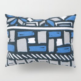 Primitive lino print Pillow Sham