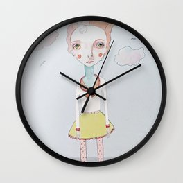 Cotton Candy Head in the Clouds Wall Clock