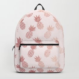 Rose Gold Pineapple Pattern Backpack