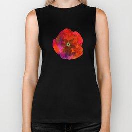 Poppies on black #2 Biker Tank
