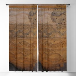 Terracotta  From Ancient Greece Blackout Curtain
