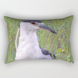 Night Heron in the Green Grass Rectangular Pillow