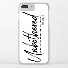 Unbothered - Isaiah 26:3 Clear iPhone Case