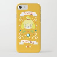 animal crossing iPhone & iPod Cases featuring Animal Crossing: Isabelle by Anth Rodi