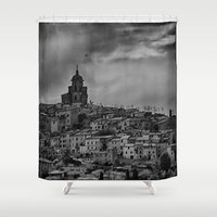 italian Shower Curtains featuring Italian Townscape by Kenneth Marti