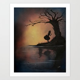 Alice's Adventures in Wonderland by Lewis Carroll Art Print