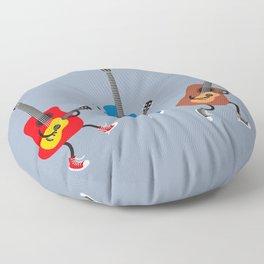 Dancing guitars Floor Pillow