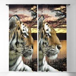 Sunset Tiger Blackout Curtain