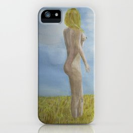 Pondering Nude iPhone Case