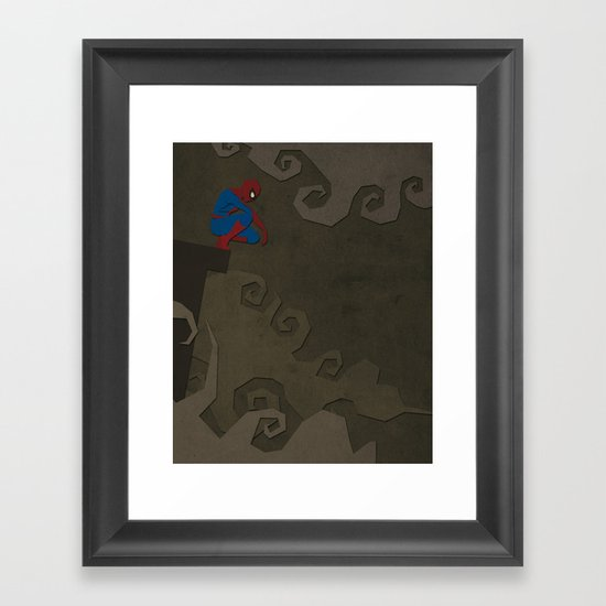Paper Heroes - Spiderman Framed Art Print