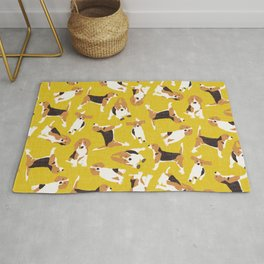 beagle scatter yellow Rug