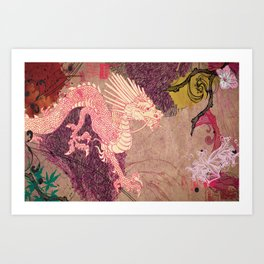 The Red Dragon Art Print