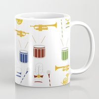 band Mugs featuring Marching Band by S. Vaeth