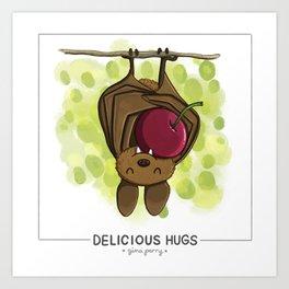 Delicious Hugs Art Print