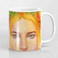 hemingway Mugs featuring Dree Hemingway by Alejo Malia