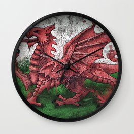 Welsh Dragon Wall Clock