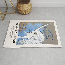 Jean Cocteau - La dame à la Licorne, Exhibition Poster, Vintage Rug